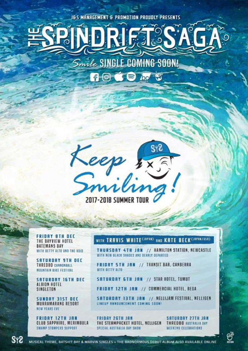 The Spindrift Saga - Keep Smiling Tour